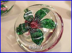 Big Thick & Heavy JOE ZIMMERMAN Paperweight Lidded Candy Jar Rose Bowl 1979