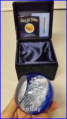 Blown Glass Eye Studio Celestial Series Andromeda Galaxy 3 Paperweight GES 11