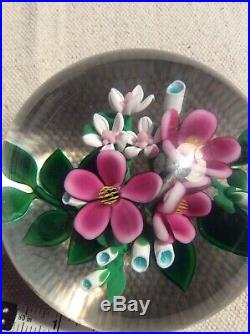 Bobby Banford Large Lampwork Flowers Magnum Paperweight
