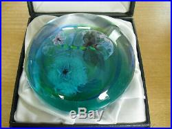Boxed Ltd Ed Caithness Traditional Pool Paperweight Colin Terris(320/350)