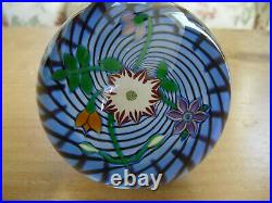 Boxed Ltd Ed Perthshire 1988E Bouquet Swirl Paperweight(34/350) 3 1/8
