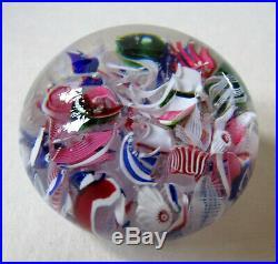 Briefbeschwerer/Paperweight antik, Macedoine, Baccarat, schöne Farbigkeit, selten