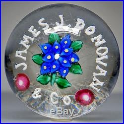 C1910 Union Glass Studio Art Magnum Advertising Lutz Poinsettia Paperweight
