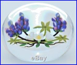 CHARMING Chris BUZZINI Flower BOUQUET Studio ART Glass PAPERWEIGHT
