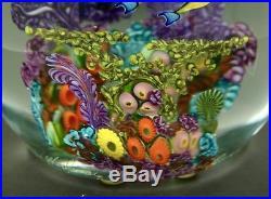 CHRIS HEILMAN Blue Runner Coral Reef 98 Glass Magnum Paperweight, Aprx 5.5Hx5W