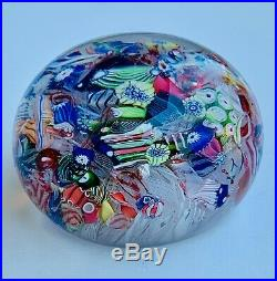 CLICHY ANTIQUE PAPERWEIGHT 19th SCRAMBLED DECORATION