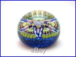 COLLECTABLE PERTHSHIRE MILLEFIORI PP30 STAR PATTERN PAPERWEIGHT, SIGNED P 1977