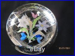 Caithness Scotland Whitefriars Summer Garden Flowers Art Glass Paperweight