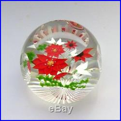 Caithness Whitefriars LE Winter Bouquet glass paperweight / presse papiers