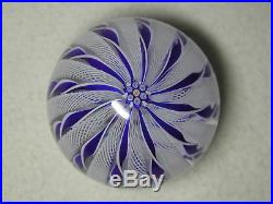 Cape Cod Glass Works Art Glass Crown Paperweight With Clichy Rose Signature Cane