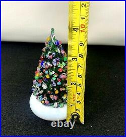 Cape Cod Glass Works Millefiori Latticino 4 Christmas Tree Paperweight