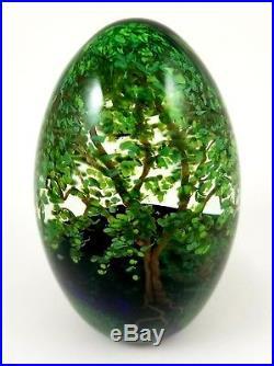 Cathy Richardson 4 Seasons Art Glass Papeweight -Spring Egg