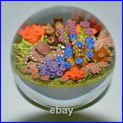 Cathy Richardson Glass Sea Art Paperweight signed and dated 3