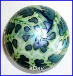 Charles Lotton Art Glass Sea Urchin Iridescent Paperweight 1976 Signed
