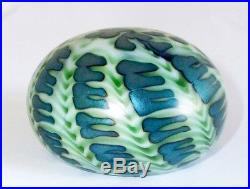 Charles Lotton Art Glass Sea Urchin Iridescent Paperweight 1976 Signed