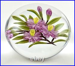 Chris Buzzini Art Glass Pink Blossom Flower Bouquet Paperweight Limited Ed 9/25