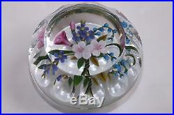 Chris Buzzini Baccarat-Faceted Spring Bouquet Paperweight 17/25 Limited Edition