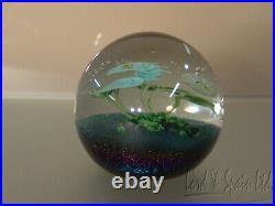 Chris Buzzini Lundberg Studios Art Glass Seahorse Aquarium Paperweight-1980