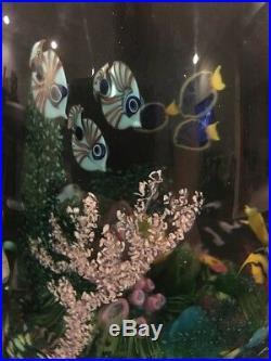 Chris Heilman Art Glass Paperweight Extensive 20 Pounds 1991 Ocean Reef / FT