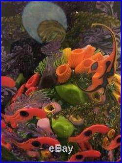 Chris Heilman Art Glass Paperweight Extensive 20 Pounds 1991 Red Sea / FT