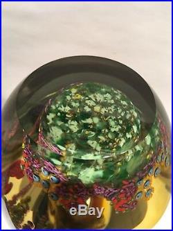 Chris Heilman Wisteria 1999 Studio Paperweight Art Glass Vase 7 1/4H x 6W Nice