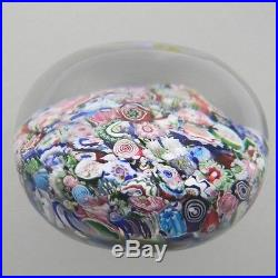 Clichy Antique Paperweight Scrambled with Roses