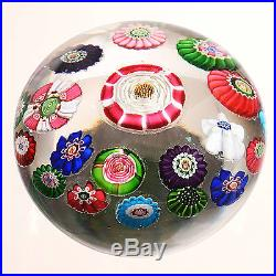 Clichy C Scroll Patterned Millefiori with Large center Rose plus Second Rose
