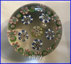 Clichy Concentric Antique Millefiori Paperweight