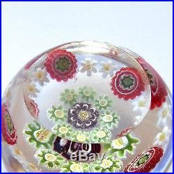 Clichy (antique French) mini millefiori glass paperweight / presse papiers