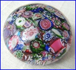 Clichy1850, Paperweight, End of Day, Millefiori, Miniatur, Briefbeschwerer