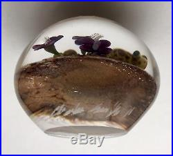 Clinton Smith Frog Art Glass Paperweight