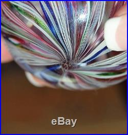 Collectible Art Glass Paperweight Artist Signed! Boyer 1984