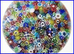 Colorful BACCARAT Zodiac Church Millefiori Signed Art Glass PAPERWEIGHT