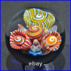 Coral Reef Art Glass Paper Weight By Trey Cornette