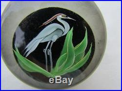 Correia Glass Paperweight Blue Heron Limited Edition Nr. 194/200 Collectible