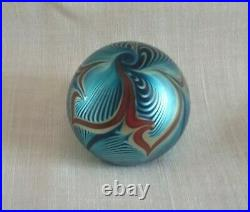 Correia Pulled Feather Paperweight Signed