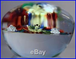 DELIGHTFUL and COLORFUL Paul STANKARD 1st BOUQUET Art GLASS Paperweight