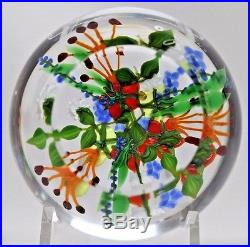 DELIGHTFUL and COLORFUL Paul STANKARD First BOUQUET Art GLASS Paperweight