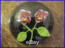 Double Pansy Lampwork Glass Paperweight French / American / English