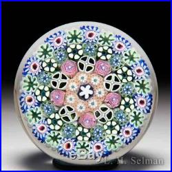 Damon MacNaught 2016 close concentric millefiori and roses paperweight