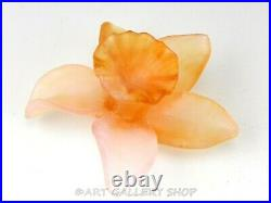 Daum France Crystal Art Glass Figurine Paperweight PATE DE VERRE DAFFODIL FLOWER
