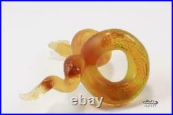 Daum Vipere Pate De Verre Glass Viper Serpent Snake Figurine Paperweight