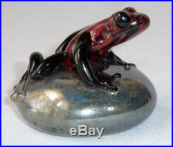 David Smallhouse Orient and Flume Hand-blown Glass Frog Paperweight #465/1000