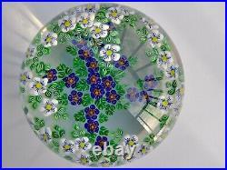 Drew Ebelhare Compound Millefiori Floral Design Paperweight