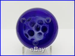 Drew Ebelhare Scattered Complex Canes on Cobalt Ground Paperweight