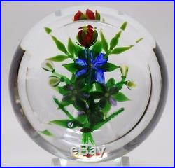 EXQUISITE Debbie TARSITANO Colorful FLOWER GARDEN Art Glass PAPERWEIGHT
