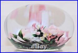 EXQUISITE Magnum RICK AYOTTE Fabulous ROSE BOUQUET Art Glass PAPERWEIGHT