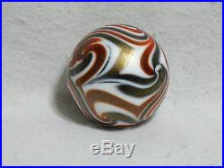 Early Charles Lotton Art Glass Paperweight - King Tut Design - 1973