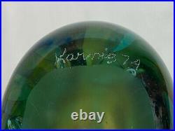 Early Large Karnig Dabanian 1974 Signed Art Glass Paperweight Sculpture Detroit