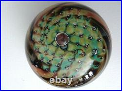 Early Signed ROBERT BURCH STUDIO Glass Bubble Pillow Paperweight 1984